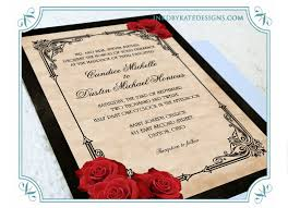 wedding invitations red black u0026 gold vintage black and red
