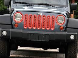 jeep wrangler front grill opar red jeep front grille insert jeep light cover trim set