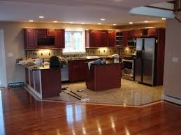 Types Of Floor Tiles For Kitchen - tile and wood kitchen floor awesome smart home design
