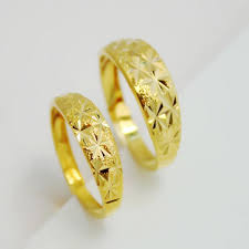 band gold 24k gold plated rings alluvial gold ring opening can be