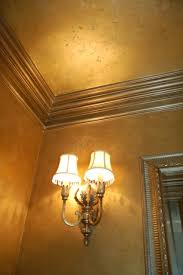 metallic gold plaster troweled walls gilded ceiling metallic