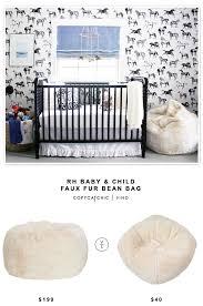 rh baby u0026 child faux fur bean bag copycatchic