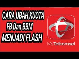 kuota bbm dan fb telkomsel ubah kuota fb dan bbm telkomsel youtube