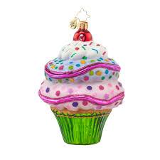 radko 1017906 sugar brilliant treasure cupcake ornament