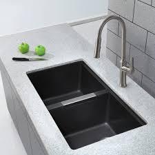 Composite Kitchen Sinks Uk Modern Kitchen Black Granite Sink And Faucet New Composite
