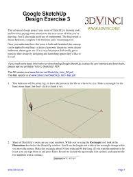tutorial google sketchup 7 pdf google sketchup design exercise 3 sketch up swimming pool