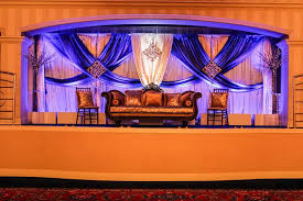 wedding backdrop on stage simply decor events wedding expos in nm