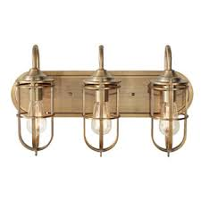 Brass Bathroom Lights Antique Brass Bathroom Light Bar Fixture Bellacor