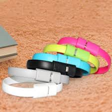 bracelet iphone images Flat wire bracelet 8 pin usb charger cable for iphone jpg