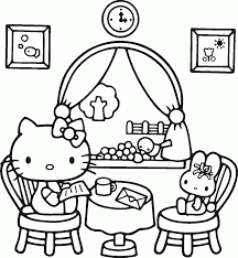 hello kitty christmas coloring pages ngbasic com