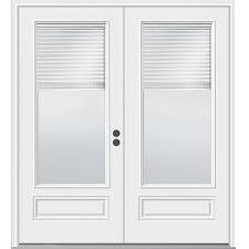 fiberglass french patio doors with blinds door decoration