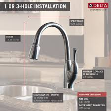 Delta Kitchen Faucet Installation Video by Delta Allora Single Handle Pull Down Kitchen Faucet U0026 Reviews