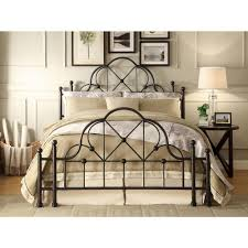 foremost emma black queen bed frame ql kdb10 the home depot
