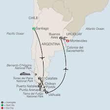 Patagonia South America Map by Patagonia U0026 Uruguay Tours Globus Travel