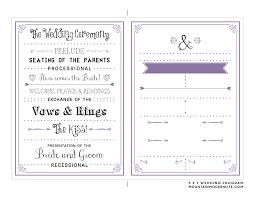 sided wedding program template wedding ideas awesome one sided wedding program template image