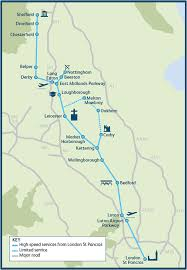 England Train Map by Midland Mainline Improvement Programme Network Rail
