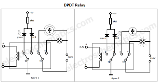 two pole light switch pole double throw relay on double pole switch wiring diagram dpdt