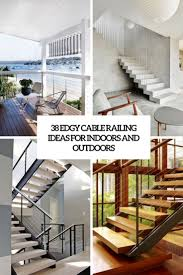 Switch Back Stairs by 38 Edgy Cable Railing Ideas For Indoors And Outdoors Digsdigs