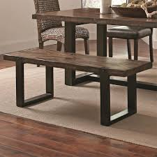 dining casual rustic dining bench
