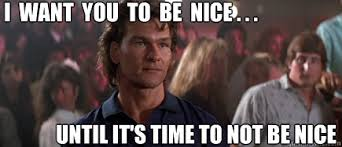 Roadhouse Meme - the double deuce scene from road house movie 1989 dalton and