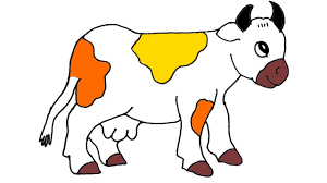 how to draw cow and coloring page for kids learning draw and