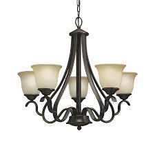 portfolio 5 light llana black bronze with red chandelier lowe u0027s