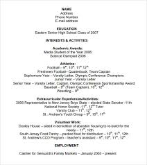 College Admissions Resume Samples by College Application Resume Example Resume For Grad