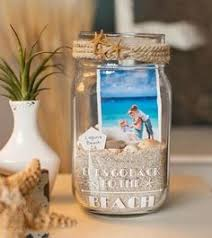 Decorating With Seashells In A Bathroom Twinkle Tights And Seashells In A Mason Jar Cozy Summer Decor For