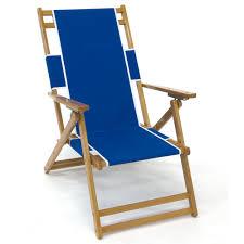 oak wood folding convertible beach chair lounger pacific blue