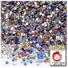 amazon com the crafts outlet 5000 piece tiny round rhinestones