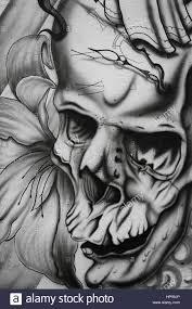 skull tattoo design stock photos u0026 skull tattoo design stock
