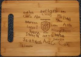 recipe engraved cutting board home