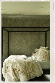 Wall Canopy Bed by Bedroom Cozy Tufted Bed With Metal Frame And Anthropologie