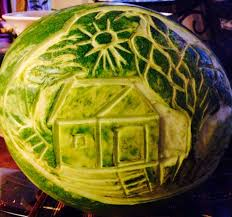 watermelon carving fruit vegetable carving