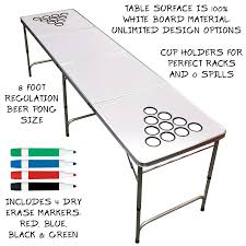 beer pong table length dry erase 8ft beer pong table your source for party perfection