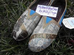 Barrel Racing Home Decor by Barrel Racing Blue Hand Painted Toms