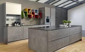 cuisine beton cire cuisine béton ciré avec îlot idées pour la maison
