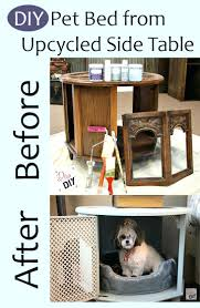 How To Make A Dog Bed Side Table Dog Bed Out Of Side Table Pet Bed Side Table Diy Pet