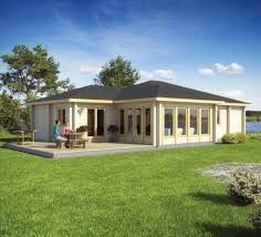 prefab house contemporary wooden frame solid wood riviera