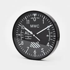 mwc altimeter wall clock shop cool material