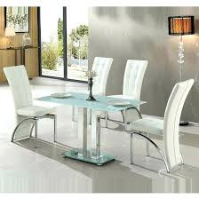 Frosted Glass Dining Table And Chairs White Glass Dining Table Sets Zagons Co