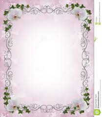 Wedding Invitation E Cards Wedding Invitation Border Orchids Ivy Royalty Free Stock Image