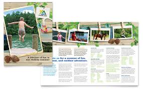 kids summer camp brochure template word u0026 publisher