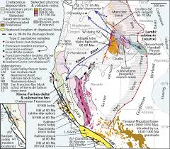 Map Of Western United States Four Cordilleran Paleorivers That Connected Sevier Thrust Zones In