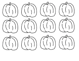 5 little pumpkins coloring page eson me