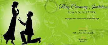 engagement ceremony invitation free engagement invitation card online invitations