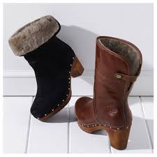 womens ugg lynnea boots 76 ugg shoes ugg lynnea leather clog boot shearling size 8