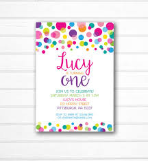 polka dot invitations rainbow polka dot invitation polka dot birthday invitation