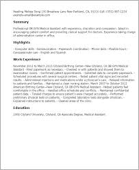 Scholarship Resume Example by Professional Ob Gyn Medical Assistant Templates To Showcase Your