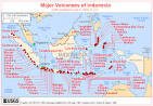 CVO Website - Major Volcanoes of Indonesia - Map